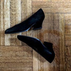 YSL Black block heel pumps
